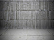 Brick wall and stone floor. Black and white background of brick wall and stone floor Stock Image