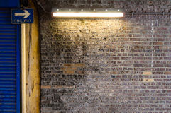 Brick Wall with Strip Light (1) Stock Images
