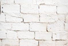 Brick wall. Surface of whitewashed brick wall Stock Image