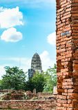 Brick wall of temple for background Stock Image