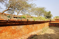 Brick wall of the temple in Bagan, Myanmar Stock Photo
