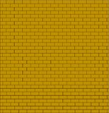 Brick wall testure yellow color isolated Stock Images