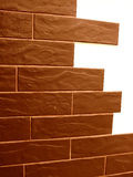 Brick wall texture. Brown brick wall in home Royalty Free Stock Photo