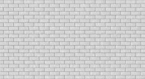 Brick wall texture. The wall is intentionally of white color so the artist can easily apply the color he needs Stock Illustration