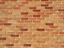 Brick Wall Texture. Brick wall with red and orange pattern Stock Photo