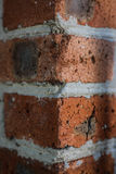 Brick wall, texture angle. Red brick wall of the old clutch angle Royalty Free Stock Photos