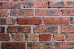 Brick wall, texture angle. Red brick wall of the old clutch Royalty Free Stock Photography