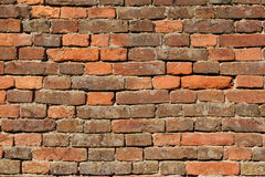 Brick wall texture background. From bastion fortress Josefov Stock Photos