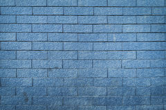 Brick wall texture background, blue color Stock Photography