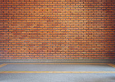 Brick wall texture background and small gravel stone Royalty Free Stock Image