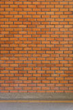Brick wall texture background and small gravel stone Stock Photo