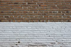 Brick wall texture background. Vintage brown and white brick wall texture background Royalty Free Stock Images