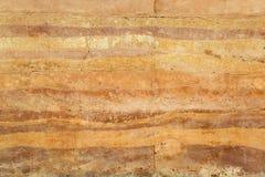 Brick wall texture breaking. Brown brick wall was breaking stock photo