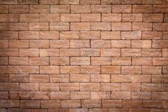 Brick wall texture or brick wall background for interior exterior decoration and industrial construction concept design.  Stock Image
