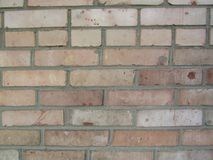 Brick wall. Texture of the brickwork on the wall was built a long time stock photography