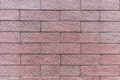 Brick wall texture. Brown brick wall textures in daytime Royalty Free Stock Photography