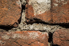 Brick wall texture. Brick wall detail photo, dirty Royalty Free Stock Photography