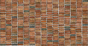 Brick wall texture.Drawing Royalty Free Stock Images