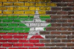 Brick wall texture - Flag of XXXX. Very old dark red brick wall texture - Flag of XXXX Royalty Free Stock Photos