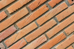 Brick wall. Texture of orange brick wall Royalty Free Stock Images