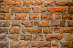 Brick wall texture. Orange brick wall texture background stock image