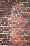 Brick wall texture with reconstruction segment Royalty Free Stock Photo