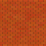 The brick wall. Texture of the red brick wall, background Stock Illustration
