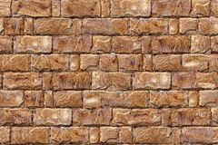 Brick wall texture. Reddish brown old brick wall, seamless, tiling Stock Photography
