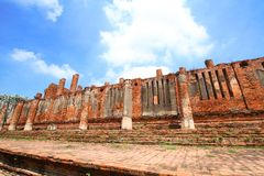Brick Wall texture in Ruins Temple Stock Photo