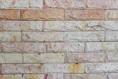 Brick wall texture sandstone walls background. Stock Photo