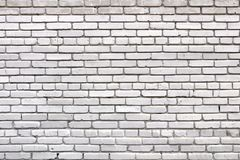 Brick wall texture. White grunge brick wall background stock photography