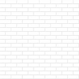 Brick wall texture. White seamless background. Stock Photography