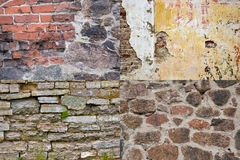 Brick wall textures collection Stock Photo