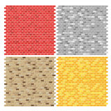 Brick wall textures collection Stock Photography