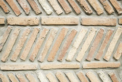 Brick wall. Wall tiles gray urban street, construction Royalty Free Stock Photos