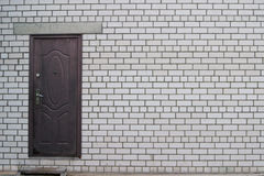 Brick wall to the front door Stock Images