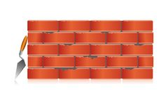 Brick wall with tool Royalty Free Stock Photo