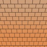 Brick wall, top-down view perspective Stock Photos