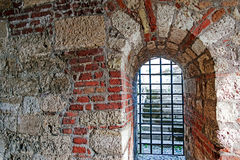 Brick wall tunnel passage Royalty Free Stock Image