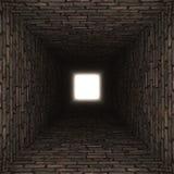 Brick wall tunnel Stock Photo
