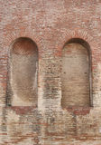 Brick wall with two arches Royalty Free Stock Photos