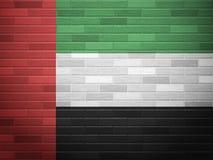 Brick wall UAE flag Royalty Free Stock Images