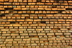 Brick wall. This wall is under the water 3 month per year. Althrough It's  so strong Royalty Free Stock Photos
