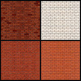 Brick Wall Variants. Seamless Vector Patterns Royalty Free Stock Photography
