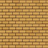 Brick wall - vector background. With colored elements Royalty Free Stock Photo