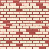 Brick wall - vector background. With colored elements Stock Photos