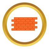 Brick wall vector icon Royalty Free Stock Images
