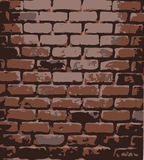 Brick wall. Vector illustration Royalty Free Stock Images