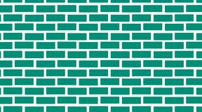 Brick wall  seamless texture. Brick wall. Vector, seamless texture,green blog,turquoise Royalty Free Stock Images