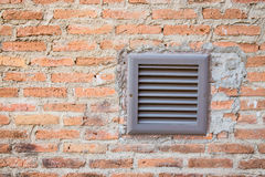 Brick wall with ventilator Stock Image